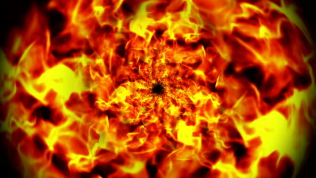 Flames Tunnel Abstract Background video