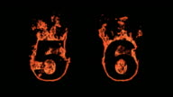 Flaming Alphabet - Numbers 5 and 6 video
