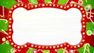 flash light bulbs banner and christmas candy canes loop video