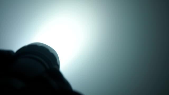 Flash Light In Smoke video