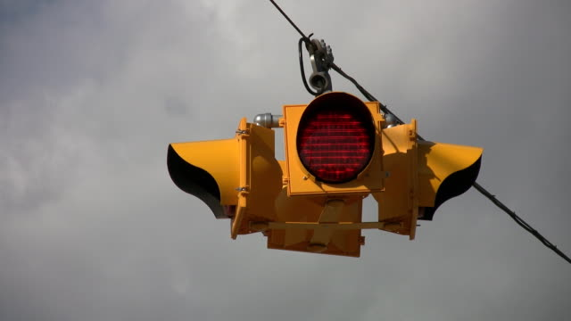 Flashing 4-way stoplight. video