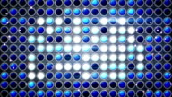 flashing blue light bulbs festive loopable background video