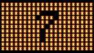 HD LOOP: Flashing Countdown Board video