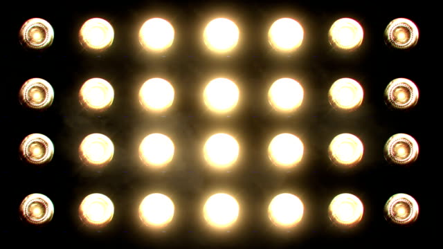 Flashing Floodlights orange video