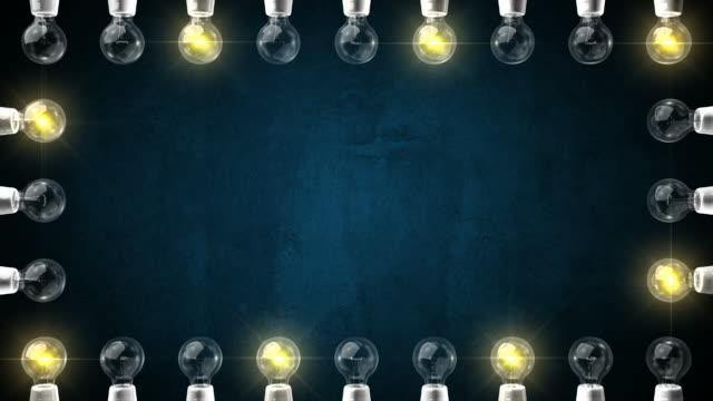 Flashing Light Frame on Textured Background video