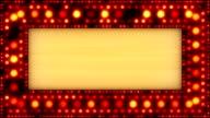 flashing lights golden banner loop video