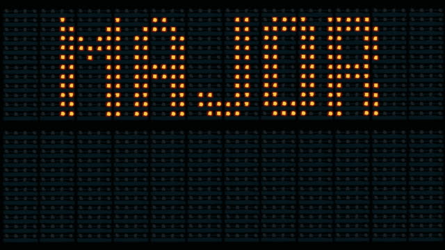 Flashing Major Delays Sign video