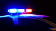 Flashing police car siren video
