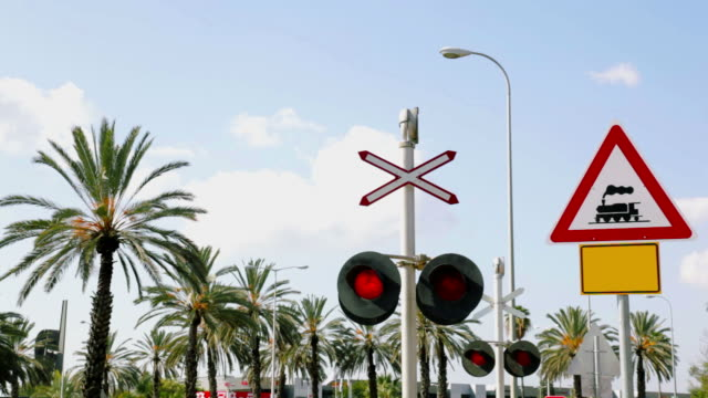 Flashing Railroad Signal. Sound video