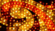flashing red and yellow marquee spiral video