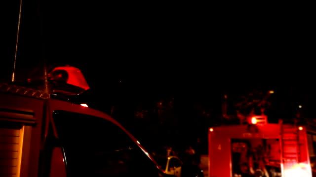 Flashing siren on ambulance car roof video
