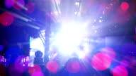flashing stage light seamless loop video