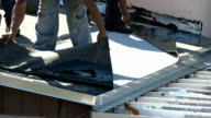 HD: Flat roof installation - Part Three video