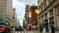 Flatiron building in Midtown New York video
