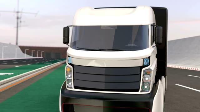Fleet of autonomous hybrid trucks video