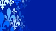 Fleur De Lys from the Quebec Flag, blue background (Loopable) video