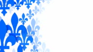 Fleur De Lys from the Quebec Flag, white background (Loopable) video