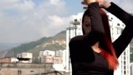 Flexible Teen Girl Stretching Leg video