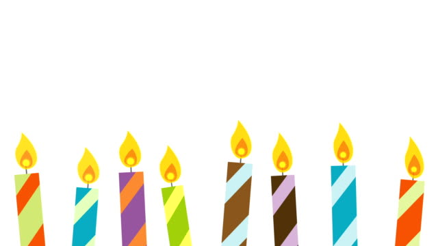 Flickering Candles with Copy Space & Alpha video