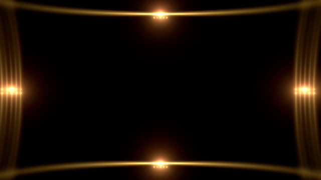 Flickering Golden Glowing Light Borders with Flares video