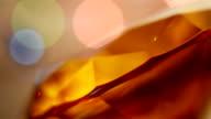 LOOPABLE: Flickering lights around an amber diamond video
