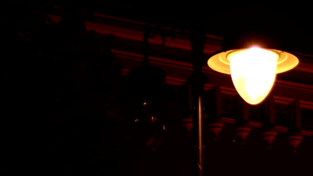 Flickering Street Lamp video