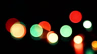 flicking abstract colorful bokeh, dark background video