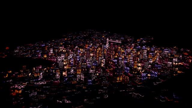Flight above Night City video