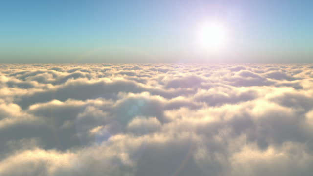 Flight above the clouds video