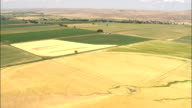 Flight Across Square Fields  - Aerial View - Montana, Big Horn County, United States video