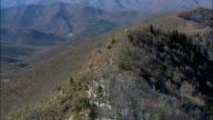 Flight Along Cold Mountain Ridge  - Aerial View - North Carolina,  Haywood County,  United States video