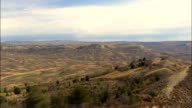 Flight Along Ridge In Fossil Butte National Monument  - Aerial View - Wyoming, Lincoln County, United States video