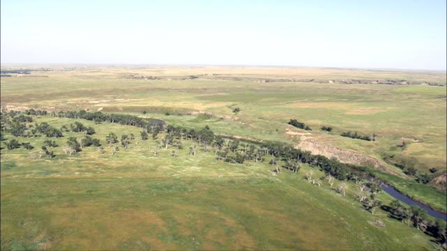 Flight Along River And Grassland  - Aerial View - South Dakota, Corson County, United States video