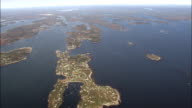 Flight And Pan Across Calendar Islands  - Aerial View - Maine,  Cumberland County,  United States video