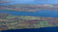 Flight And Pan Along North Hero Island  - Aerial View - Vermont,  Grand Isle County,  United States video