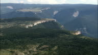 Flight Down End Of Bighorn Canyon  - Aerial View - Montana, Big Horn County, United States video