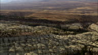 Flight Down Red Gulch  - Aerial View - Wyoming, Big Horn County, United States video