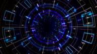 Flight in abstract futuristic tunnel video