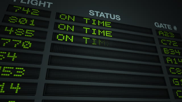 Flight Information On Time video