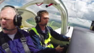 Flight Instructor Mentoring Student in Air video