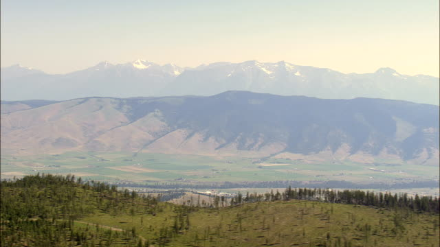 Flight Into National Bison Range  - Aerial View - Montana, Lake County, United States video