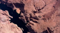 Flight Looking Down On Navajo Canyon  - Aerial View - Arizona,  Coconino County,  United States video