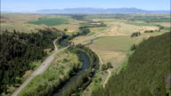 Flight Out Of the Gallatin River Gorge  - Aerial View - Montana, Gallatin County, United States video