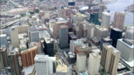 Flight Over Baltimore City Centre  - Aerial View - Maryland, City of Baltimore, United States video