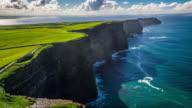 Flight over Cliffs of Moher in Ireland video