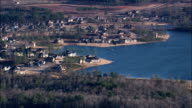 Flight Over Island In Chief McIntosh Lake  - Aerial View - Georgia,  Butts County,  United States video