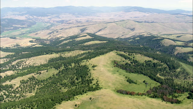 Flight Over South East Edge Of John Long Mountains  - Aerial View - Montana,  Granite County,  helicopter filming,  aerial video,  cineflex,  establishing shot,  United States video