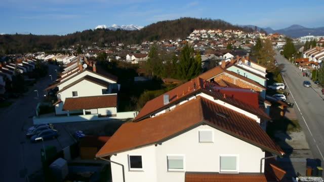 AERIAL: Flight over suburban houses video