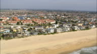 Flight Over Sunset Beach  - Aerial View - California,  Orange County,  United States video