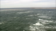 Flight Over Wind Against Tide  - Aerial View - North Carolina,  Carteret County,  United States video